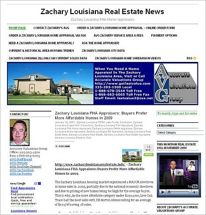 zachary louisiana fha home appraisers