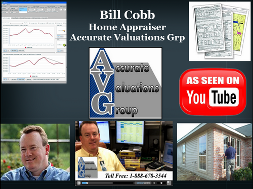 Bill Cobb Accurate Valuations Group Large Background as seen on youtube