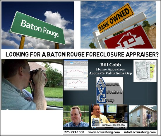 Foreclosure Real Estate Home Appraiser Baton Rouge Louisiana