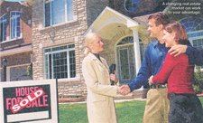 real estate agent and buyers