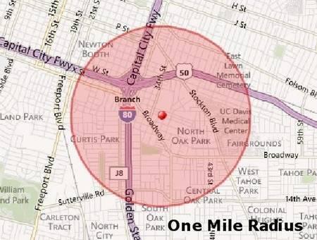appraisal comps one mile radius